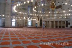 piękny dywan we wnętrzu Suleymaniye Camii