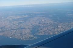 Bosfor i Zatoka Złoty Róg widziana z samolotu