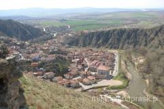 widok na Stip ze wzgórza Isar