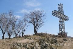 krzyż na szczycie wzgórza Isar