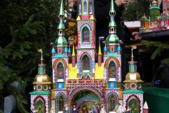 najbardziej popularnym motywem jest kościół z wieloma wieżyczkami