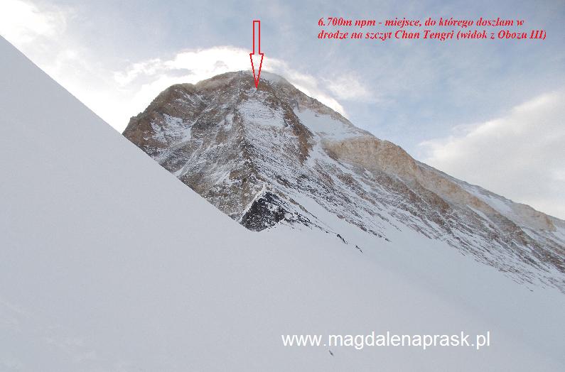 w drodze na szczyt Chan Tengri osiągnęłam wysokość ok 6.700m npm - niestety na razie tylko tyle...