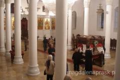 wnętrze cerkwi Bogurodzicy