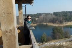 na wieży widokowej w Pożegowie