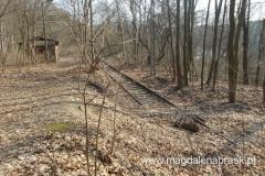 tajemnicza stacja kolejowa z szynami kończącymi się w lesie... to stacji PKP w Osowej Górze. Linię kolejową do Osowej Góry uruchomiono 1 listopada 1912r., w związku z rozwojem transportu samochodowego, linia została zamknięta w listopadzie 1999r.