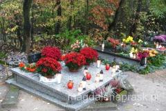 jesienne kwiaty zdobią polskie cmentarze