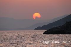 zachód słońca z naszej wysepki