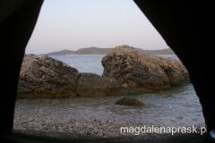 o poranku - widok z naszego namiotu