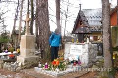 przy grobie Kornela Makuszyńskiego
