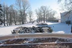 z pałacu rozciąga się piękny widok na park