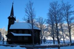 drewniany kościółek w Tatranskiej Javirinie - ufundowany przez Christiana Krafta Hohenlohe-Oehringena miłośnika sprowadzania bizonów i propagator myślistwa