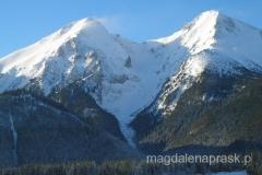 charakterystyczne bliźniacze szczyty Tatr Bielskich: Murań (1.890m npm) oraz Hawrań (2.152m npm)