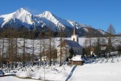 Zdziar - zasypana śniegiem wieś u podnóża Tatr