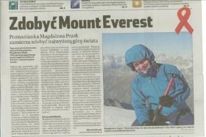 Artykuł z Echo Miasta z dnia 30 listopada 2009r.