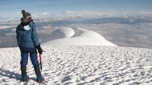 Cayambe - piekne widoki ze szczytu