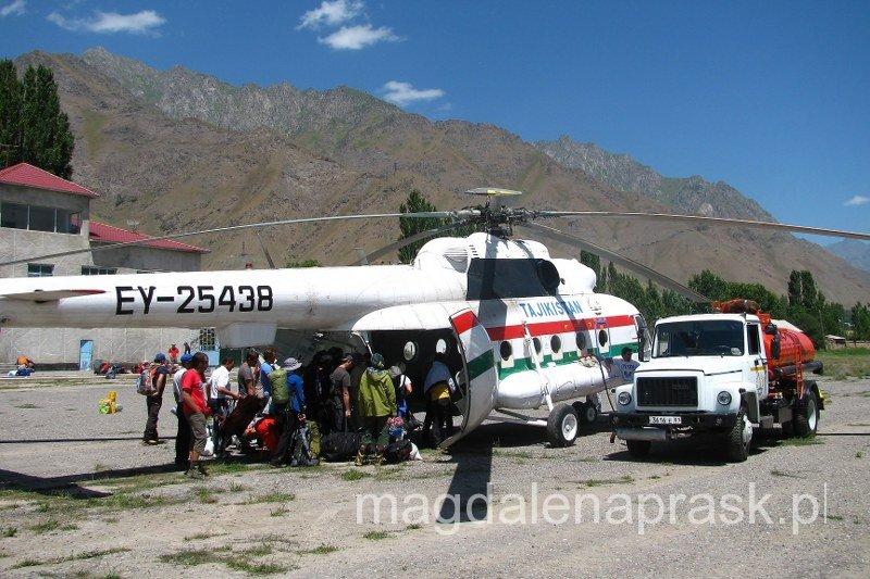 wreszcie przyleciał nasz wyczekiwany helikopter
